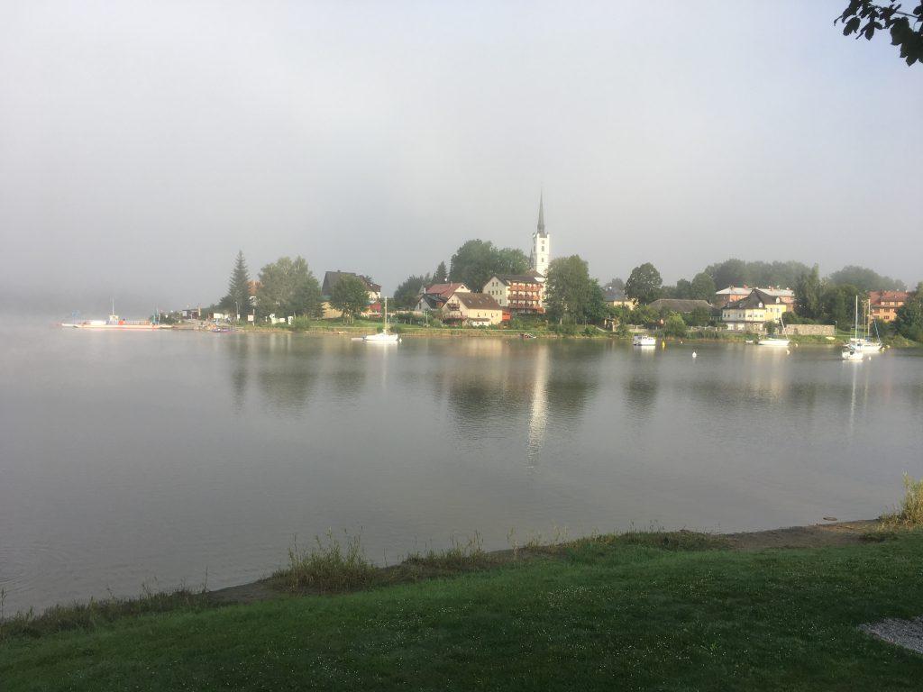 Frymburk on the left bank of the Lipno reservoir